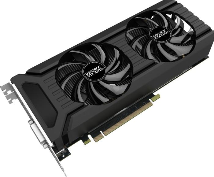Palit GeForce GTX 1070 Ti Dual, 8GB GDDR5, DVI, HDMI, 3x DP (NE5107T015P2-1043D)