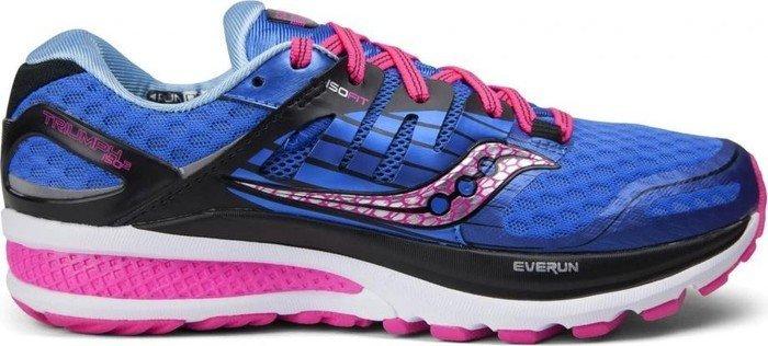 Saucony Damen Triumph ISO 2 Laufschuhe, Blau (Blue (Blue/Pink) Blue/Pink), 42 EU