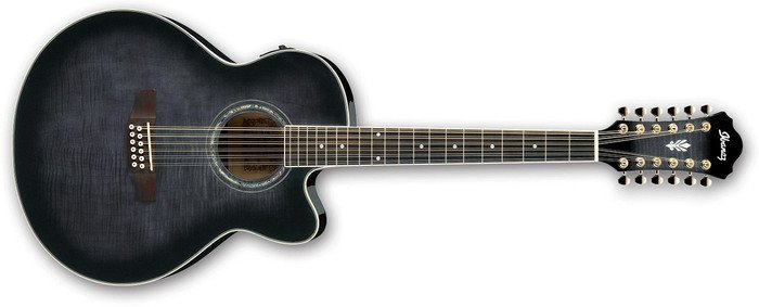Ibanez AEL2012E TKS transparent Black Sunburst High Gloss