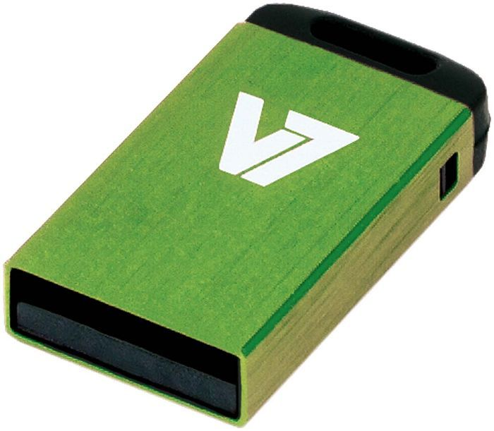 V7 Nano USB stick green 4GB, USB-A 2.0 (VU24GCR-GRE-2N)