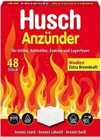 Husch Würfel Grill-/Kaminanzünder, 48 Stück