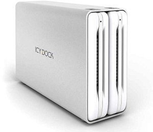 "Cremax Icy Dock MB662USEB-2S silver, 3.5"", USB-A 2.0/eSATA/FireWire 400/800"