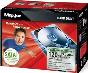 Maxtor Ultra 16 Hard Drive kit 120GB, SATA (L14M120)