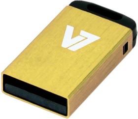 V7 Nano USB-Stick gelb 4GB, USB-A 2.0 (VU24GCR-YLW-2N)
