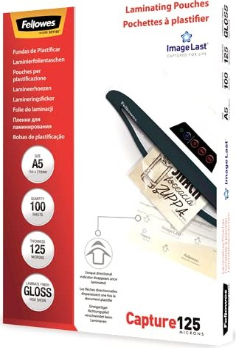 Fellowes Laminierfolie A5, 2x 125 micron, glänzend, 100 Stück (53073) -- via Amazon Partnerprogramm