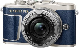 Olympus PEN E-PL9 blau mit Objektiv M.Zuiko digital 14-42mm EZ (V205092UE000)