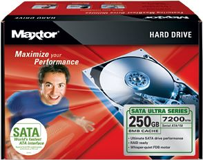 Maxtor Ultra 16 Hard Drive Kit 250GB, SATA (L14M250)