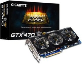 Gigabyte GeForce GTX 470 Super Overclock, 1.25GB GDDR5, 2x DVI, Mini HDMI (GV-N470SO-13I)