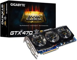 Gigabyte GeForce GTX 470 Super Overclock, 1.25GB GDDR5, 2x DVI, mini HDMI (GV-N470SO-13I)