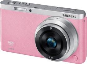 Samsung NX mini pink mit Objektiv NX-M 9mm ED