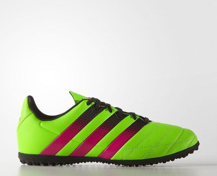 official photos 95894 10146 adidas Ace 16.3 TF solar green shock pink core black (Junior) (