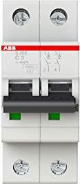 ABB Sicherungsautomat S200, 2P, C, 3A (S202-C3)