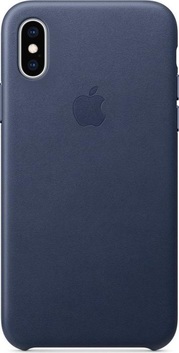 Apple Leder Case für iPhone XS mitternachtsblau (MRWN2ZM/A)