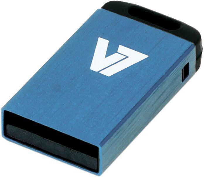 V7 Nano USB stick blue 8GB, USB-A 2.0 (VU28GCR-BLU-2N)