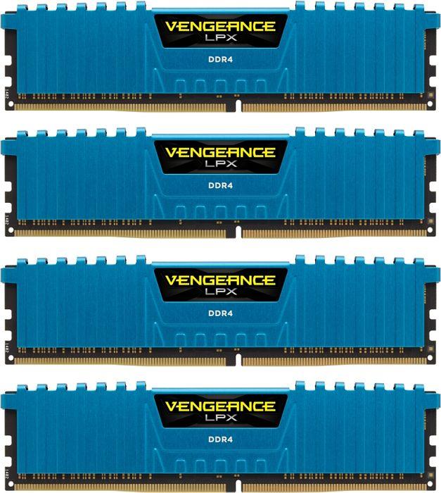 Corsair Vengeance LPX blue DIMM kit 16GB, DDR4-2133, CL13-15-15-28 (CMK16GX4M4A2133C13B)