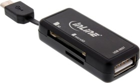 InLine OTG Dual Flex Dual-Slot-Cardreader, USB-A 2.0 [Stecker] (66776)