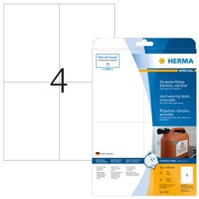 Polyester Etiketten 105 x 148,5 mm WETTERFEST weiß A6 Folienetiketten 105x148 A4