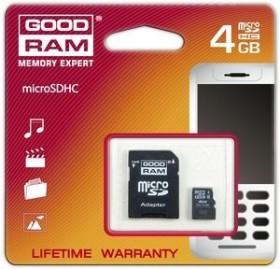 Goodram M40A microSDHC 4GB Kit, Class 4 (SDU4GHCAGRR10/M40A-0040R11)