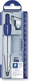 Staedtler Noris Club 550 Schulzirkel Metall mit Bleieinsatz, Universaladapter, silber/blau (550 60)