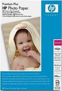 HP Q2508A Premium Plus Fotopapier seidenmatt 10x15, 280g, 60 Blatt