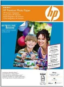 HP Q2519A Premium Fotopapier hochglänzend A4, 240g, 20 Blatt
