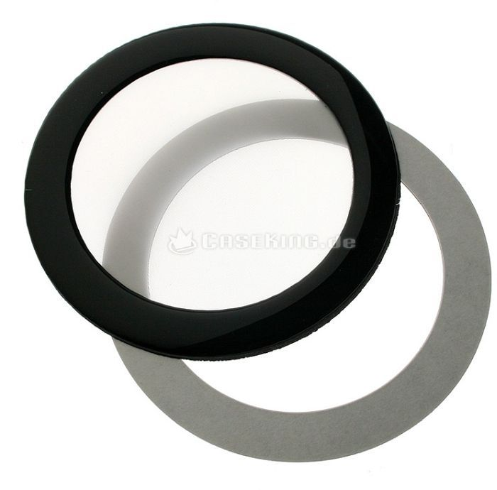 DEMCiflex dust filter 80mm circular black/white -- © caseking.de