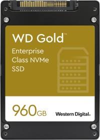 Western Digital Gold Enterprise Class NVMe SSD - 0.8DWPD 960GB, SE, U.2 (WDS960G1D0D)