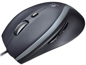 Logitech M500 Corded Mouse, USB (910-001202)