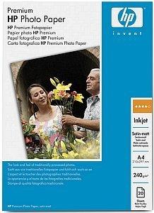 HP Q5433A Premium Fotopapier seidenmatt A4, 240g, 20 Blatt