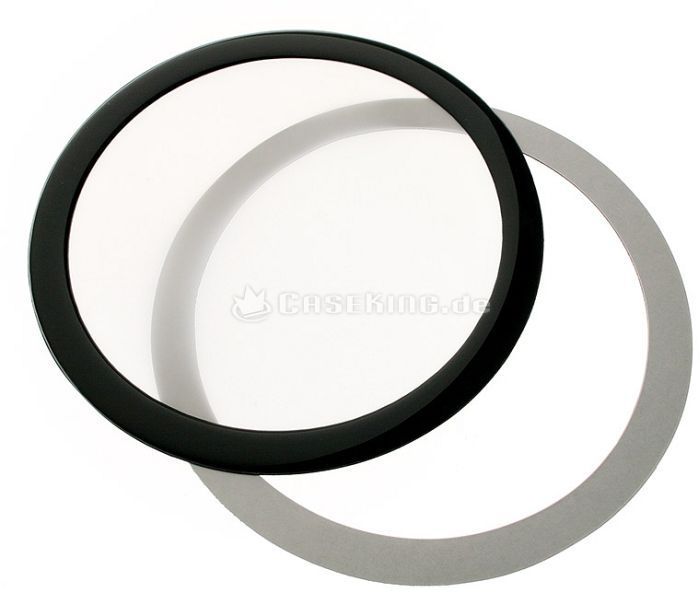 DEMCiflex dust filter 120mm circular black/white -- © caseking.de