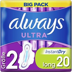Always Ultra Long mit Flügel (Größe 2) Damenbinden, 20 Stück