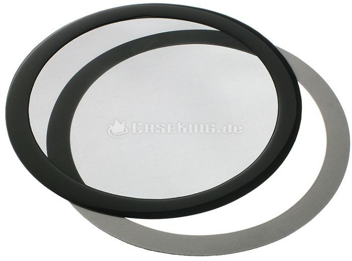 DEMCiflex dust filter 200mm circular black/black -- © caseking.de