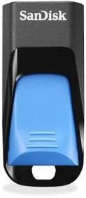 SanDisk Cruzer Edge schwarz/blau 32GB, USB-A 2.0 (SDCZ51E-032G-B35B)