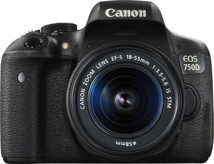 Canon EOS 750D schwarz mit Objektiv EF-S 18-55mm 3.5-5.6 IS STM (0592C022)