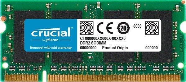 Crucial SO-DIMM 1GB, DDR2-800, CL6 (CT12864AC800)
