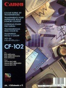 Canon CF-102 Overheadfolie A4, 50 Blatt (1043A001)