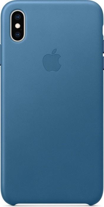 Apple Leder Case für iPhone XS Max cape cod blau (MTEW2ZM/A)