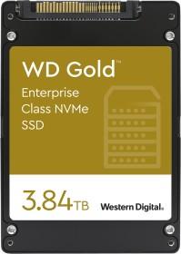 Western Digital Gold Enterprise Class NVMe SSD - 0.8DWPD 3.84TB, SE, U.2 (WDS384T1D0D)