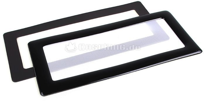 DEMCiflex dust filter 2x 40mm square black/white -- © caseking.de
