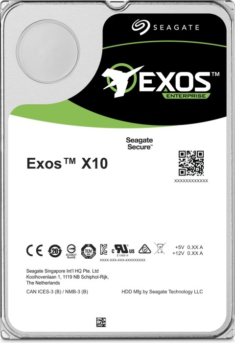 Seagate Exos X X10 10TB, 512e, SATA 6Gb/s (ST10000NM0086)