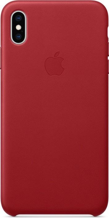 Apple Leder Case für iPhone XS Max rot (MRWQ2ZM/A)