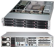 Supermicro 826BA-R920UB black, 2U, 920W redundant