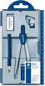 Staedtler Noris Club 550 Schulzirkel Set, 6-teilig, silber/blau (550 60 S1)
