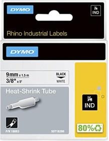 Dymo IND shrink tubing 9mm, black/white (S0718280/18053)