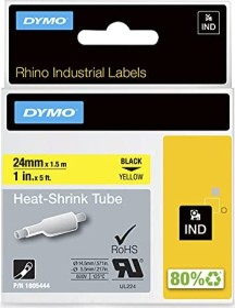 Dymo IND shrink tubing 24mm, black/yellow (1805444)