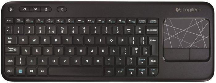 Logitech K400 Wireless Touch Keyboard schwarz, USB, DE (920-003100)