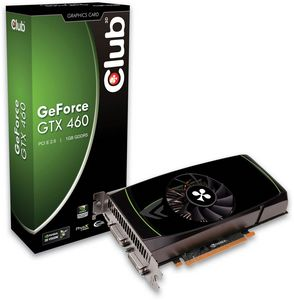 Club 3D GeForce GTX 460 overclocked Edition nVIDIA-Design, 1GB GDDR5, 2x DVI, mini HDMI (CGNX-X46024O)