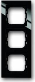Busch-Jaeger bush-axcent cover frame 3-way, black (1723-281)
