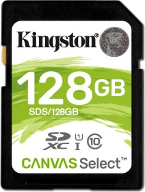 Kingston Canvas Select R80 SDXC 128GB, UHS-I U1, Class 10 (SDS/128GB)
