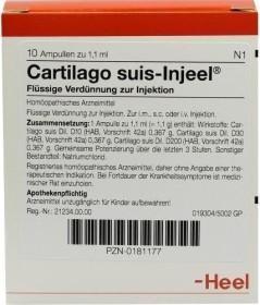 Heel Cartilago suis-Injeel ampoules, 10 pieces